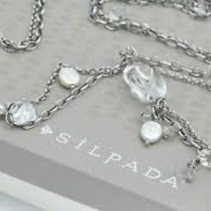 NWT Silpada Sterling Silver/Quartz/Pearl  Necklace